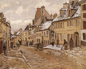Pontoise the Road to Gisors in Winter 1873 - Camille Pissarro reproduction oil painting