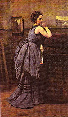 Woman in Blue 1874 - Jean-baptiste Corot