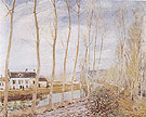 Loing Canal 1892 - Alfred Sisley reproduction oil painting