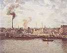 Quai Saint Sever at Rouen 1896 - Camille Pissarro reproduction oil painting