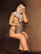 The Beardsley Limner Little Boy in a Windsor Chair c1785
