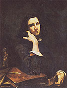 Gustave Courbet Self Portrait Man with Leather Belt c1845