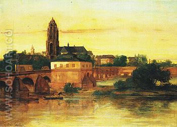 View of Frankfurt am Main 1858 - Gustave Courbet reproduction oil painting