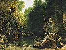 The Shaded Stream  1865 - Gustave Courbet reproduction oil painting