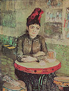 Vincent van Gogh Woman at a Table in the Cafe du Tambourin 1887