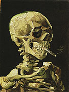 Vincent van Gogh Skull of a Skeleton with Burning Cigarette winter c1885