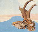 Georgia O'Keeffe Antelope Head With Pedernal 1953