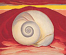 Georgia O'Keeffe Red Hill And White Shell 1938
