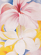 Georgia O'Keeffe Hibiscus With Plumeria 1939