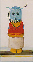 Georgia O'Keeffe Blue Headed Indian Doll 1935