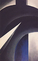 Georgia O'Keeffe Black White And Blue 1930