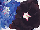 Georgia O'Keeffe Black HollyHock Blue LarkSpur 1930
