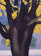Georgia O'Keeffe Black Maple Trunk Yellow Leaves 1929