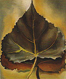 Georgia O'Keeffe Grey And Brown Leaves 1929