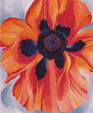 Georgia O'Keeffe Red Poppy No VI 1928