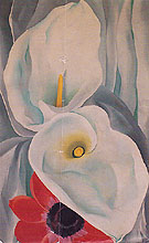 Georgia O'Keeffe Calla Lilies With Red Anemone 1928