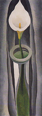 Calla Lilies Tall Glass No 1 1923 - Georgia O'Keeffe