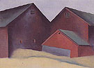 Ends Of Barns c1922 - Georgia O'Keeffe