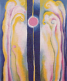Pink Moon And Blue Lines  1923 - Georgia O'Keeffe