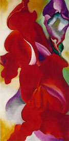 Red Snapdragons c 1923 - Georgia O'Keeffe