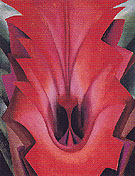 Georgia O'Keeffe Inside Red Canna 1919