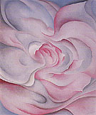 Georgia O'Keeffe White Rose Abstraction With Pink 1927