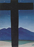 Georgia O'Keeffe Black Cross With Stars And Blue 1929