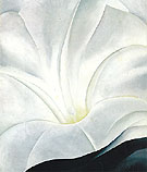 Morning Glory With Black - Georgia O'Keeffe reproduction oil painting