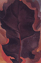 Autumn Leaf 2 1927 - Georgia O'Keeffe reproduction oil painting