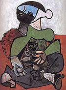 Pablo Picasso Seated Woman with Dog 1953
