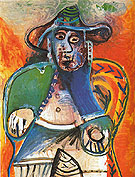 Seated Old Man 1970 - Pablo Picasso reproduction oil painting