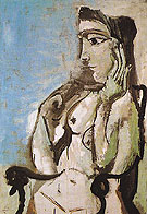 Nude in an Armchair 1964 - Pablo Picasso reproduction oil painting