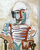 Pablo Picasso Seated Man Self Portrait 1965