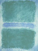 Mark Rothko Green Divided by Blue