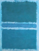 Mark Rothko Blue Divided by Blue