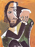 Seated Man 1971 - Pablo Picasso
