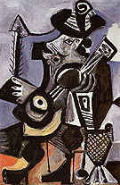 Musician with Guitar 1972 - Pablo Picasso