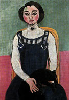 Marguerite with a Black Cat 1910 - Matisse