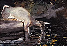 Deer Drinking 1892 - Winslow Homer reproduction oil painting