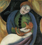 Girl with Cat II 1912 - Franz Marc