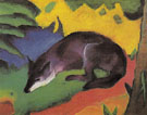 Blue Black Fox 1911 - Franz Marc reproduction oil painting