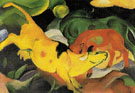 Cows Yellow Red Green 1912 - Franz Marc