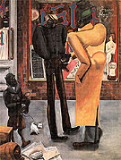 Harlem 1934 - Edward Burra reproduction oil painting