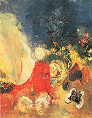 The Red Sphinx c1910 - Odilon Redon