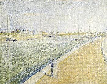 The Channel of Gravelines Petit Fort Philippe 1890 - Georges Seurat reproduction oil painting