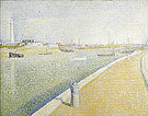 The Channel of Gravelines Petit Fort Philippe 1890 - Georges Seurat