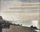 Evening Honfleur 1886 - Georges Seurat reproduction oil painting