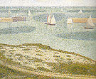 Port en Bessin Entrance to the Harbour 1888 - Georges Seurat