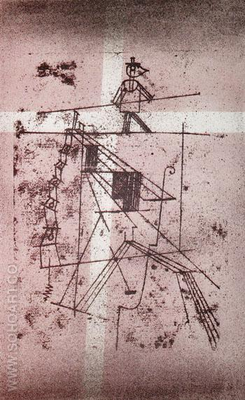 The Tightrope Walker 1923 - Paul Klee reproduction oil painting