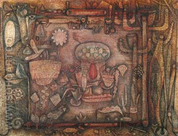 Botanical Theatre c1924 - Paul Klee reproduction oil painting